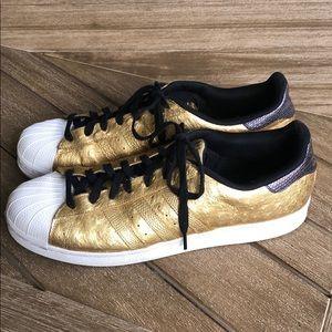 ADIDAS Superstar Shelltoe Metallic Gold Ostrich 13
